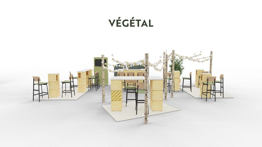 exemple de stand pour cocktail végétal