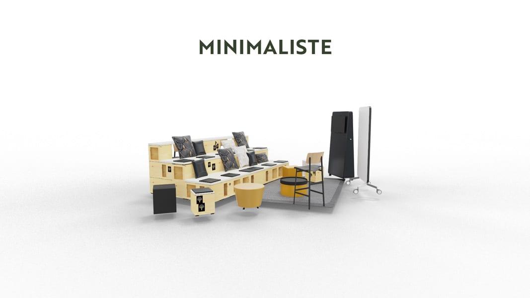 exemple de mise en scène minimaliste