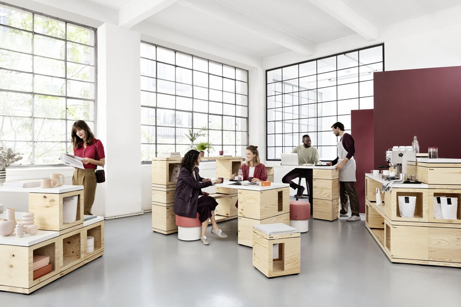 Espace de travail modulable