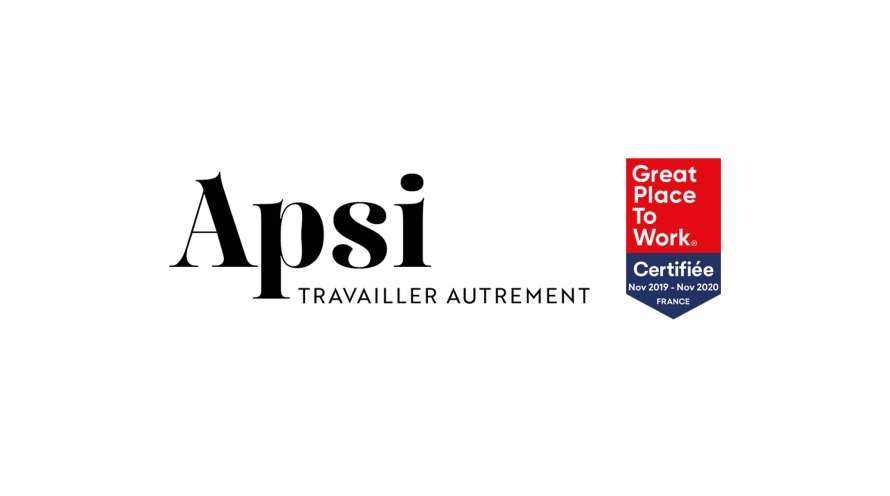 Apsi est certifiée Great Place To Work