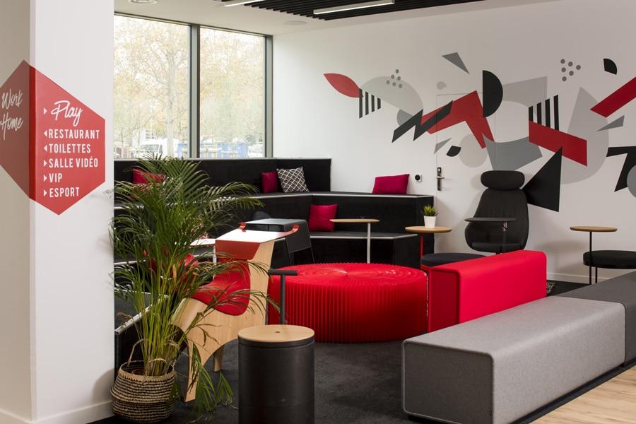 aménagement espaces de travail Tony Parker Adéquat Academy