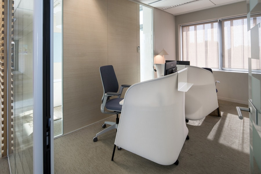 Secrétaire et fauteuil Sedus, Lampe HK Living
